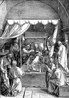 The Death of the Virgin from the 'Life of the Virgin' series, engraved 1510, pub. 1511