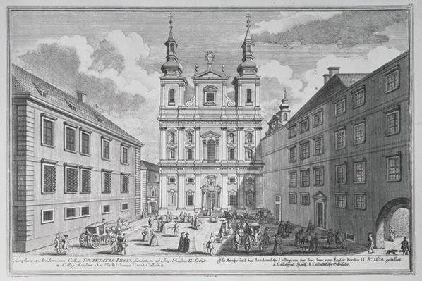 View of the Jesuitenkirche and Dr-Ignaz-Seipal-Platz in Vienna