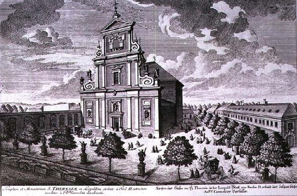 View of the church and monastery of St. Theresa, Vienna