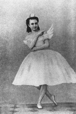 Anna Sobechshanskaya as Odette in Julius Reisinger's original production of Swan Lake, Moscow, 1877