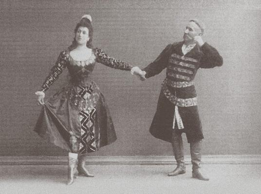 Julia and Felix Kschessinsky in the mazurka