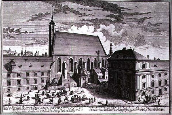 View of All Saints Church, Vienna engraved by Johann-August Corvinus