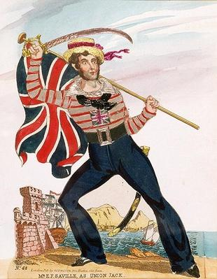 Mr E.F. Saville as 'Union Jack', pub. by Redington