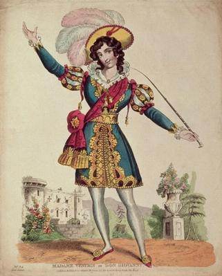 Madame Vestris in the role of Don Giovanni from Mozart's opera 'Don Giovanni'