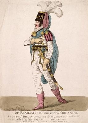 Mr. Braham in the character of Orlando from Shakespeare's 'As You Like It', pub. 1802