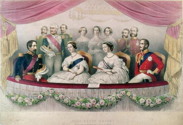 """Hail Happy Union"", the State visit to the Royal Italian Opera by Queen Victoria, Prince Albert and the Emperor and the Empress of France, 1855"