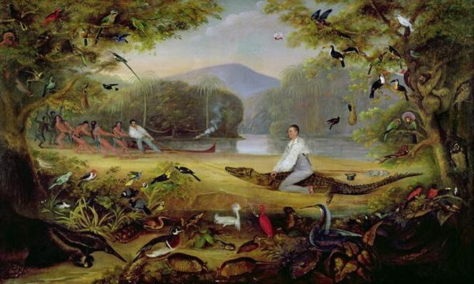 Charles Waterton capturing a cayman, 1825-26
