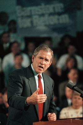 George W. Bush Campaigns in Illinois | U.S. Presidential Elections: 2000