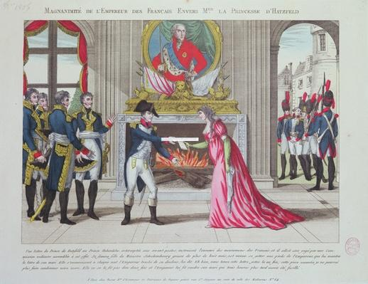Magnanimity of Emperor Napoleon towards the Princess of Hatzfeld, 1806