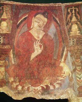 Buddha Sitting on a Lotus