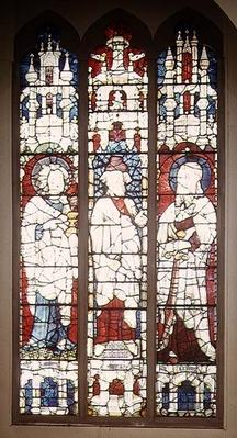 The Winchester window, depicting St.John the Evangelist, St. James the Less and the prophet Zephaniah, 1392
