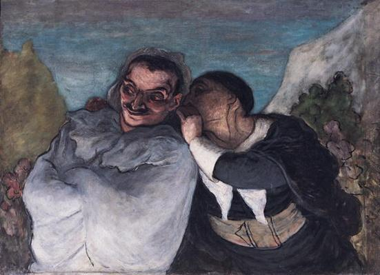 Crispin and Scapin, or Scapin and Sylvester, c.1863-65 by Daumier, Honore (1808-79)