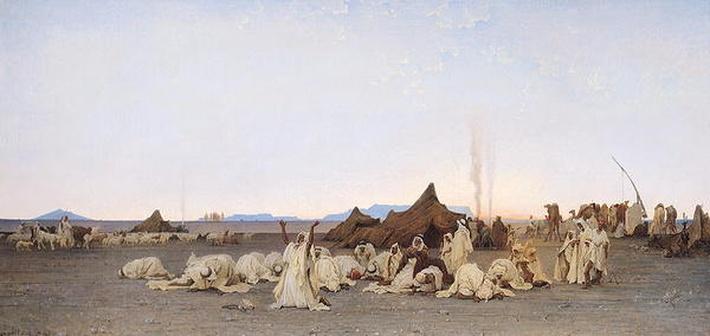 Evening Prayer in the Sahara, 1863