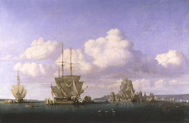 The Anchorage of Brest in Calm Weather, 1844