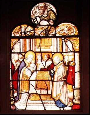 The Presentation in the Temple; window from Cistercian Abbey of Mariawald, Eifel, 16th century