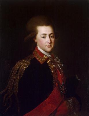 Portrait of the palace-aide-de-camp Alexander Lanskoy, 1784