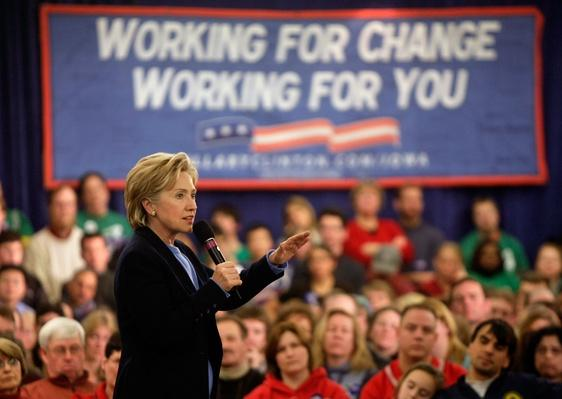 Hillary Clinton Continues Final Campaign Push Through Iowa | U.S. Presidential Elections 2008
