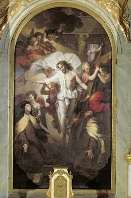 Christ Resurrected between St. Teresa of Avila
