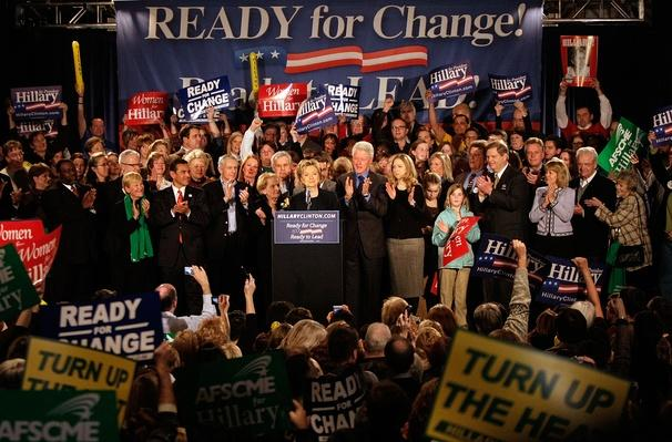 Hillary Clinton Hosts Caucus Night Gathering | U.S. Presidential Elections 2008