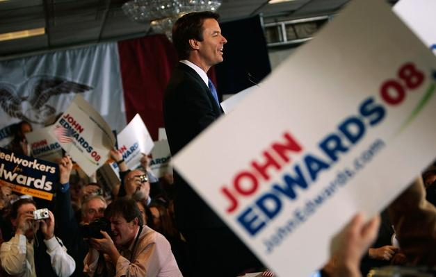 John Edwards Holds Caucus Night Rally | U.S. Presidential Elections 2008
