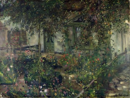 Flower garden in bloom, 1904