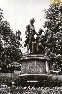 Memorial statue of Joseph Lanner and Johann Strauss the Elder