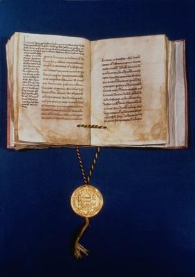 The Golden Bull of Charles IV, Holy Roman Emperor, 1400