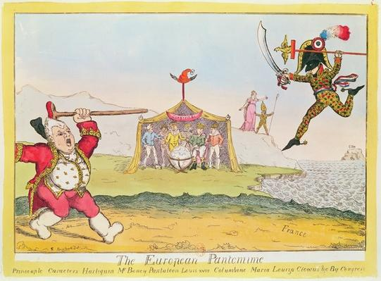 'The European Pantomime', cartoon of Napoleon