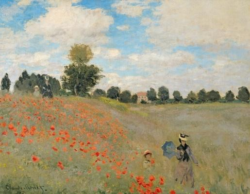 Wild Poppies, near Argenteuil by 1873 (oil on canvas), Monet, Claude (1840-1926)
