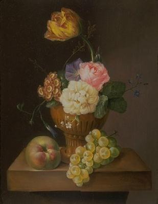 Val A. Browning Memorial Collection: An Arrangement of Flowers with Fruit