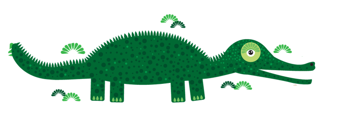 Animals of Australia - Crocodile | Clipart