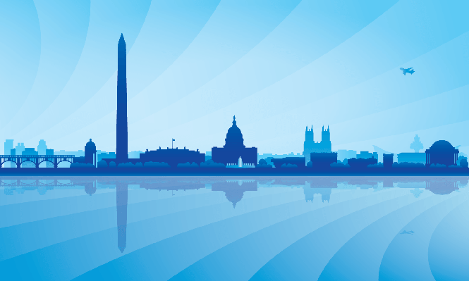 Washington city skyline silhouette background | Clipart