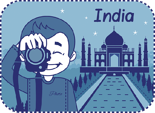 Teaser With Photographer Travels Through India | Clipart