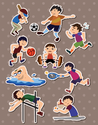 Sport Stickers | Clipart