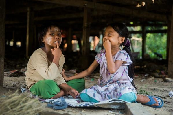 Two Girls Playing | Global Oneness Project