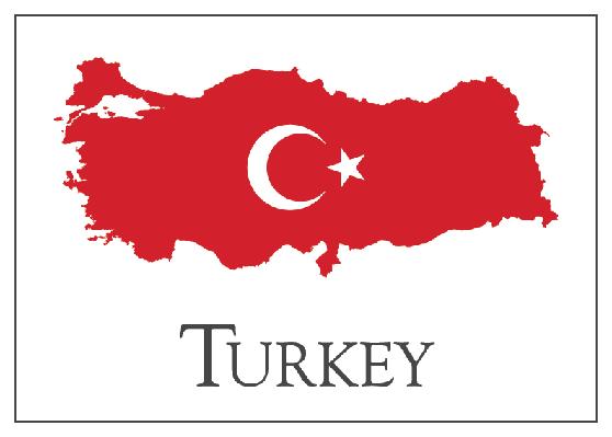 Turkey Flag Map | Clipart