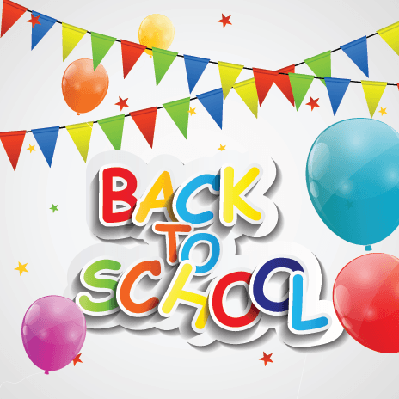 Back to School Concept (balloons) | Clipart