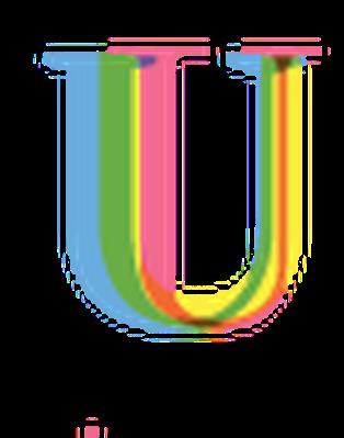 Four-Color Alphabet Letters - U | Clipart
