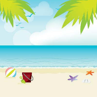 On the Beach | Clipart