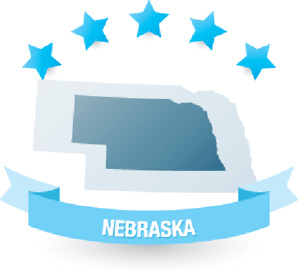 Detailed Map of Nebraska State | Clipart