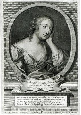 Medallion portrait of Madame de La Fayette, French novelist