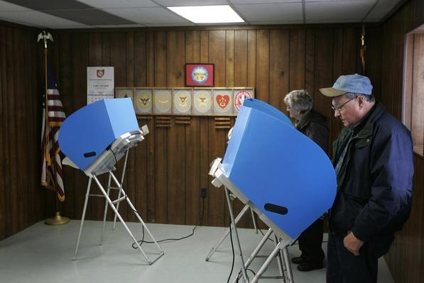 Ohio Voters Go To The Polls On Primary Day | U.S. Presidential Elections 2008