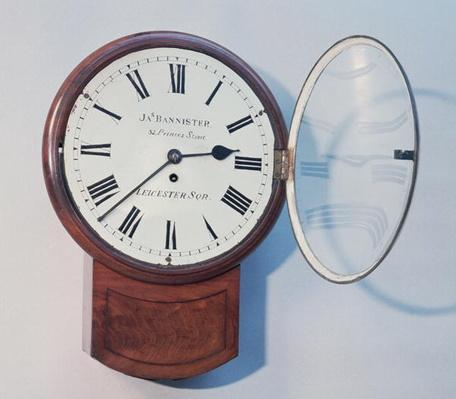 Trunk dial clock, London, 1850