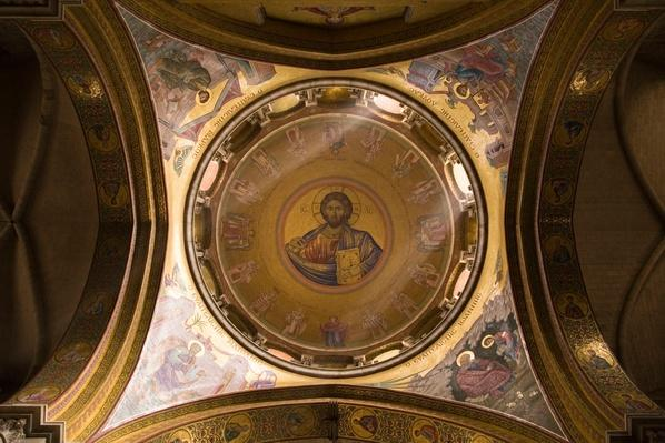Ceiling of the Katholikon | World Religions: Christianity