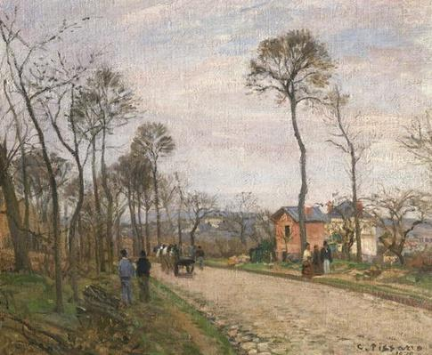The Road from Louveciennes, 1870