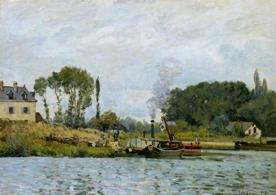 Boats at the lock at Bougival, 1873