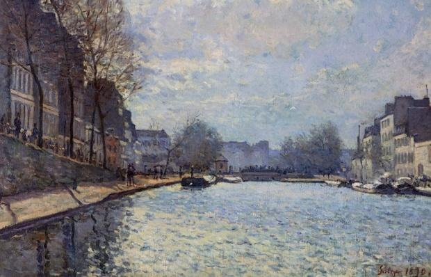 View of the Canal Saint-Martin, Paris, 1870
