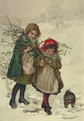 Illustration from Christmas Tree Fairy, pub. 1886