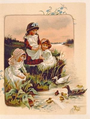 Feeding Ducks, illustration from `Where Lilies Live', 1889
