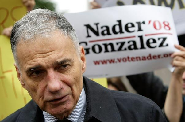 Ralph Nader Leads Protest At American Petroleum Institute | U.S. Presidential Elections 2008